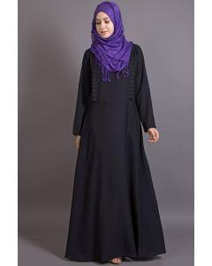 Nazneen Frill Casual Black Abaya